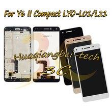 5.0 nouveau pour Huawei Y6 II LYO L01 compacte LYO L21 écran LCD complet + écran tactile numériseur assemblée + housse de cadre 100% testé