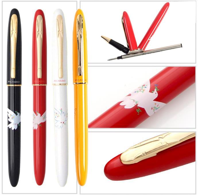 купить Gel RollerBall Pen Picasso 606 + extra 2 original refills The best gift for lady shcool and office stationery   Free Shipping по цене 549.14 рублей