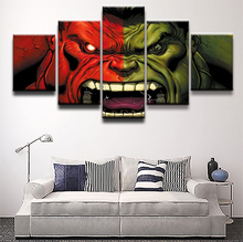 5 Piece Hulk Superman Science Fiction Movie Paintings on Canvas Wall Art for Home Decor HD Print Modern Decorative