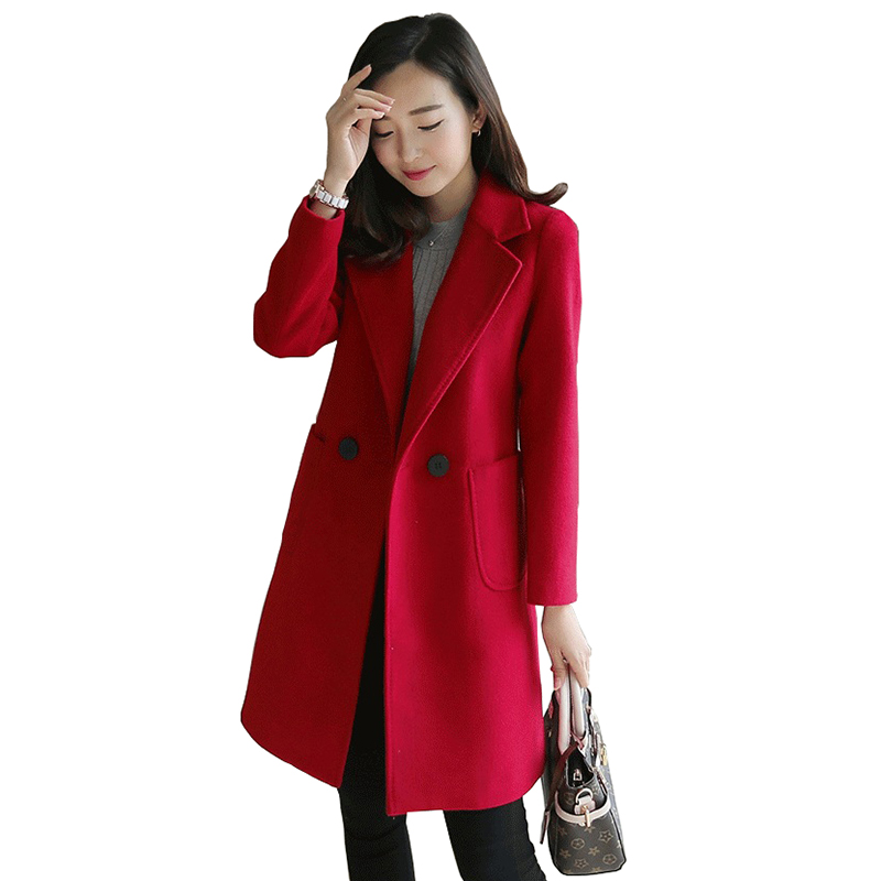 Online Get Cheap Womens Red Wool Coat Sale -Aliexpress.com ...