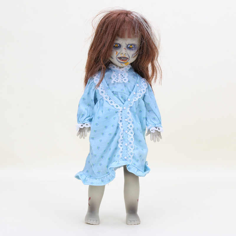 25cm Terror Film The Exorcist Living Dead Dolls Scary Bride of Chucky Classic PVC Action Figure Toys Kids Halloween Gift