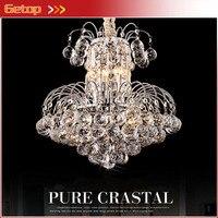 המחיר הטוב ביותר גופי תאורה זוהר מנורת קריסטל נברשת בדולח היוקרה D45xH45cm cristal lustres pendents