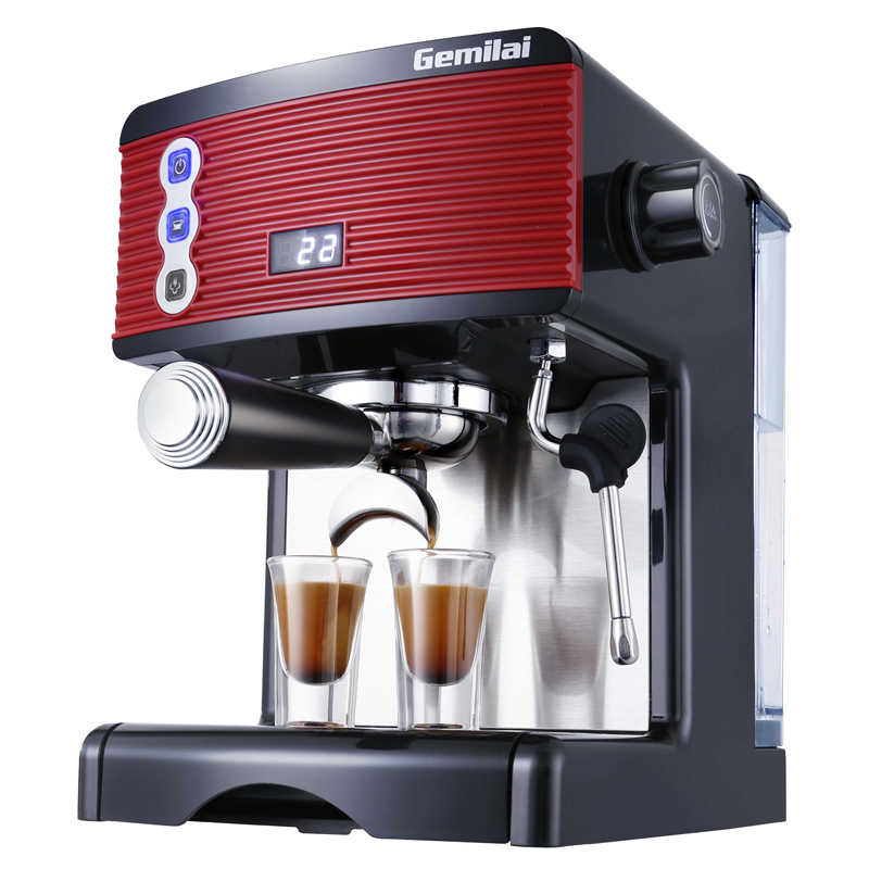 CRM <font><b>3601</b></font> Espresso Coffee Maker 1.7L Automatioc Household Commercial Coffee Machine Espresso Steam Milk Foam image