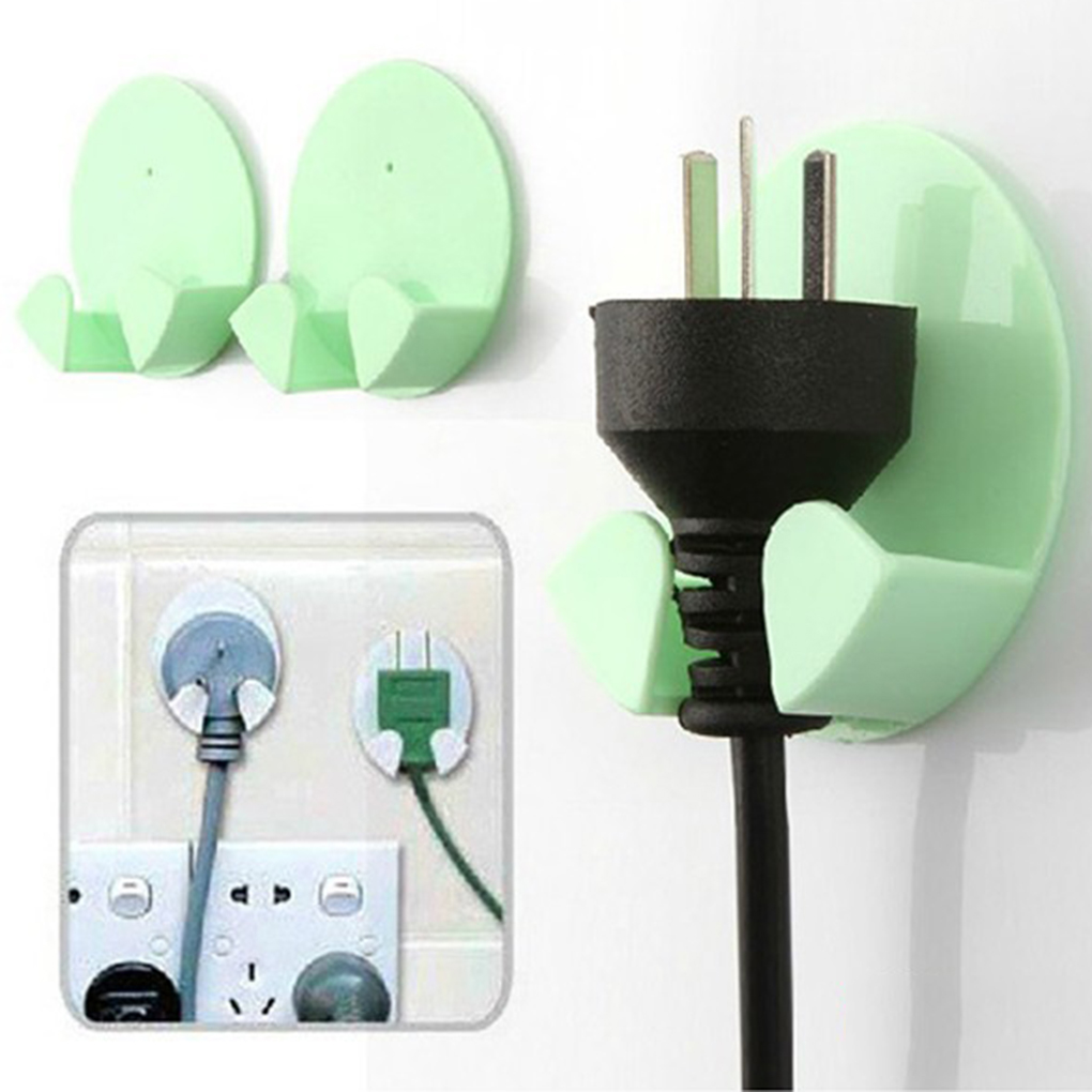 2pcs Practical Gum Hooks Plug Hooks For Household Usage Colors Random