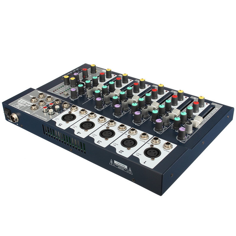 Professional 7 Channel Stage Live Studio Audio Mixer USB Mixing Console DJ KTV