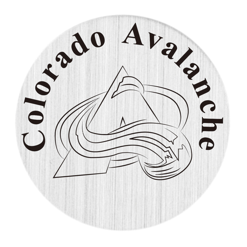 Colorado Avalanche 22mm Stainless Steel Floating Locket Plate NHL Floating Charms Fit 30mm Living Glass Lockets 20pcs/lot