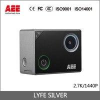 100% Oryginalny AEE Aparat Działań Sportowych LYFE SREBRNY Full HD 4 K 1440 P Mini Helmet Camera 1.8LCD WiFi & Bluetooth 40 m Wodoodporny