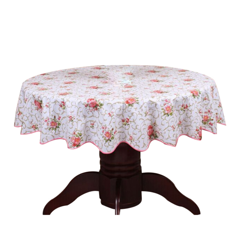 Remarkable Pastoral Round Table Cloth Pvc Plastic Table Cover Flowers Printed Tablecloth Waterproof Home Party Wedding Decoration Download Free Architecture Designs Grimeyleaguecom