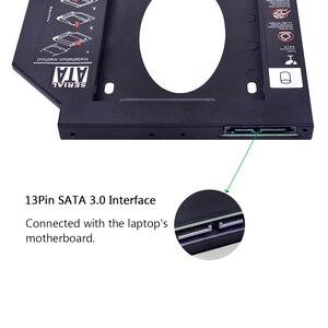 CHIPAL 10 шт. 2nd HDD Caddy 9,5 мм SATA 3,0 для 2,5 дюймов 2 ТБ 9 мм 7 мм SSD чехол для жесткого диска корпус для ноутбука DVD-ROM Optibay ODD