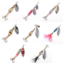 1 pcs Fishing Spoon Hard Bait Mepps Lure Artificial Jig Vissen Tackle Spinner Fishing Lures With Knife-edged Treble Hooks