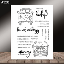 AZSG Sedan style fashion car Clear Stamps for DIY Scrapbooking/photo Album Decorative Craft Stamp Chapte