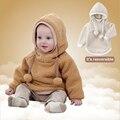 100% cashmere inverno clothing menino quente da menina das crianças do hoodie uniforme de beisebol cardigan crianças jaqueta de manga comprida 2016 novo