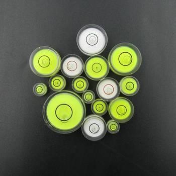 Dostępne modele odmiany okrągły poziomica pęcherzykowa mini poziomica Bubble Bullseye Level urządzenie pomiarowe tanie i dobre opinie HACCURY Green White Blue