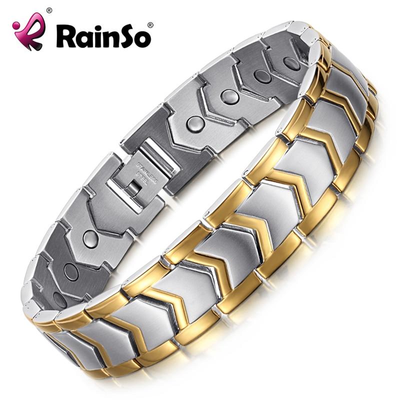 24fd1c84b176 Pulsera de acero inoxidable saludable de alta calidad para hombre, joyería  de moda, pulseras y ...