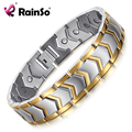 Rainso Top Quality Healthy Stainless Steel Bracelet Men Jewelry New Fashion Bio Energy Magnet Bracelets & Bangles For Man