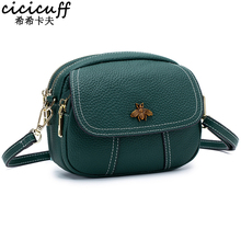 CICICUFF Handbag Lady Genuine Leather Women Messenger Bags Fashion Shoulder Bags Female Crossbody Flap Designer Bag 2019 New fashion designer flap lady brand women shoulder bag chains swallow lock messenger bags genuine leather handbag original quality