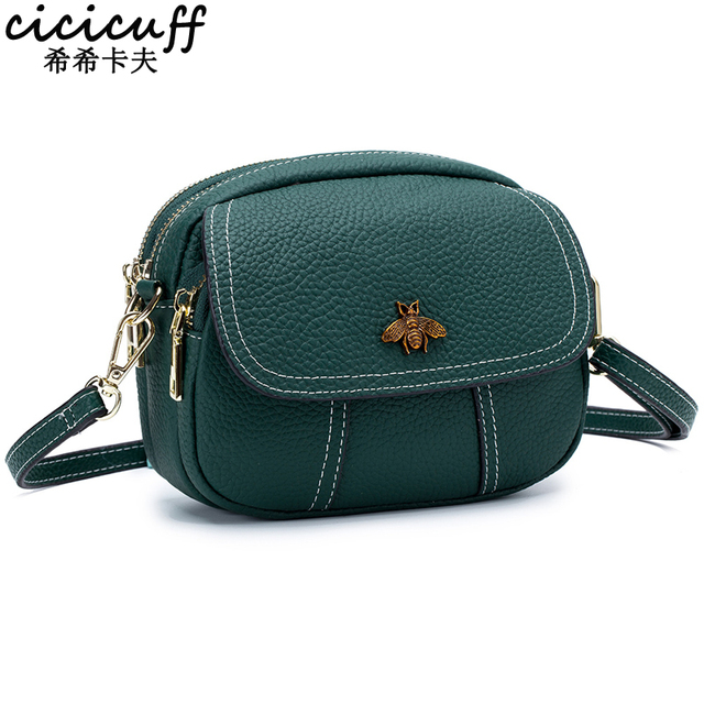 CICICUFF Handbag Lady Genuine Leather Women Messenger Bags Fashion Shoulder Bags Female Crossbody Flap Designer Bag 2020 New