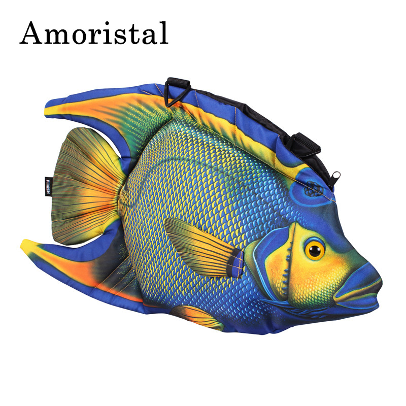 Unisex 3D Funny Fish Shoulder Bags Design Hip-Hop Originality Single Package Fashion Satchel Package Women Messenger Bag B254