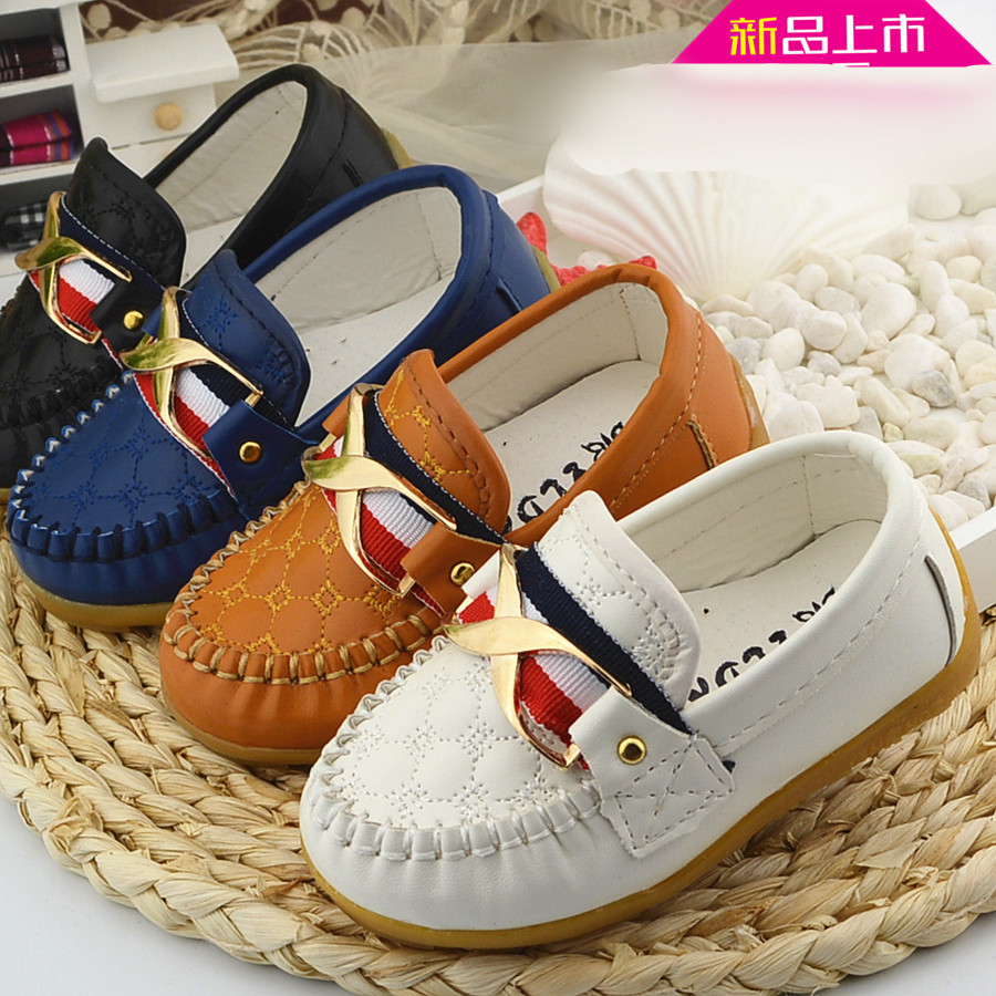2018 spring new Korean boys and girls children bean shoes beef bottom British single shoes EU size 21-30