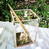 TUTU Luxury Desk Organizer Transparency Acryl Pencil Case Pen Container Rose Gold Pens Cup Stationery Papelaria