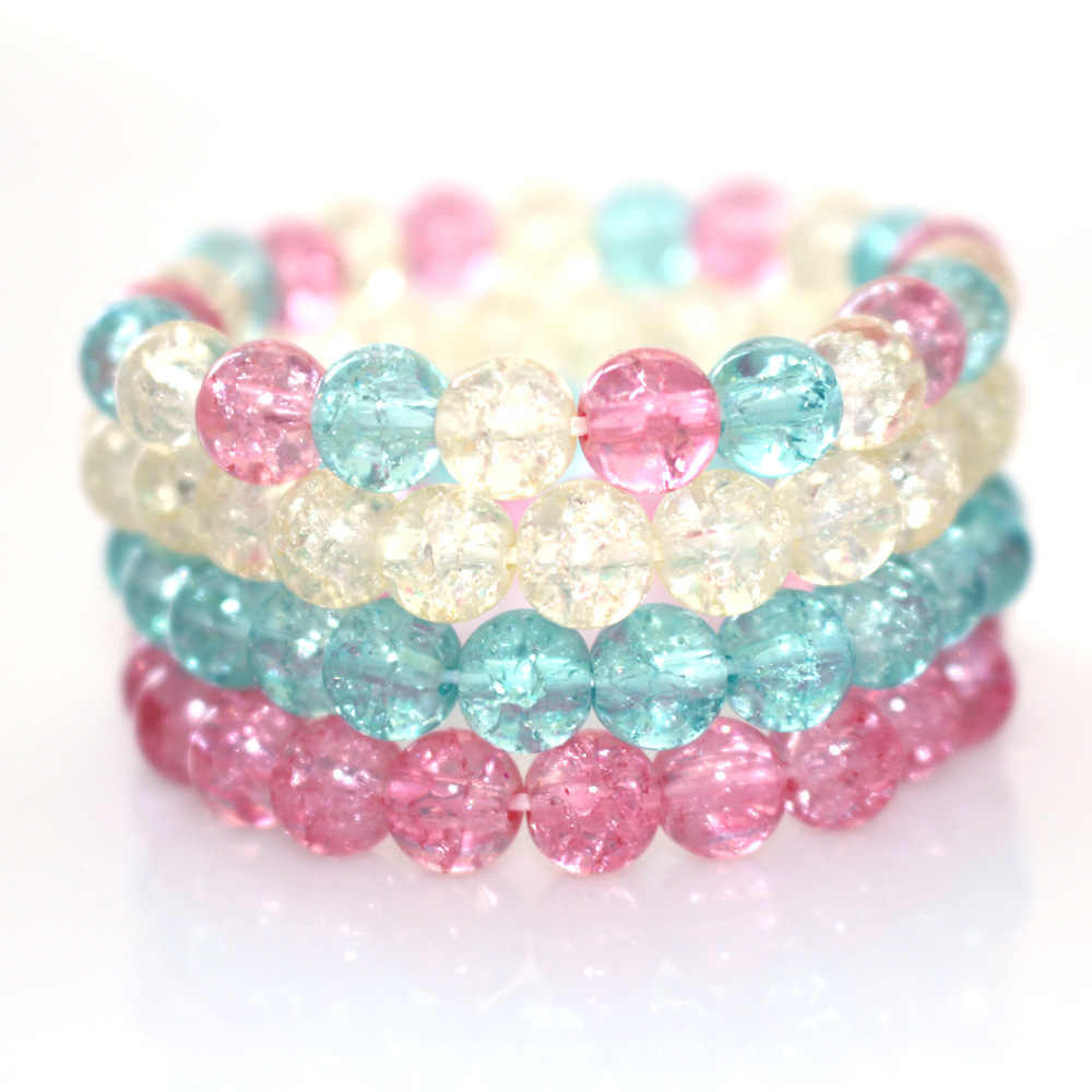 Natural Crystal Stone Girls Kids Lady Women Bosom Friends Bracelet Jewelry Gift