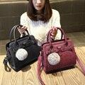 Бесплатная доставка, 2017 новая женщина тенденция сумки, досуг сумка, корейская версия женщины сумку, мода волосы мяч украшения щитка.
