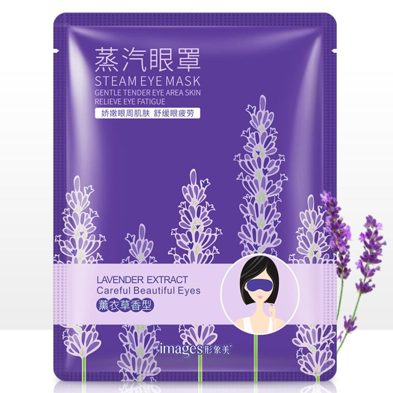Images Lavender Steam Warm Eye Mask Dark Circle Eye Bags Eliminate Puffy Wrinkles Anti Aging Eyes Fine Line