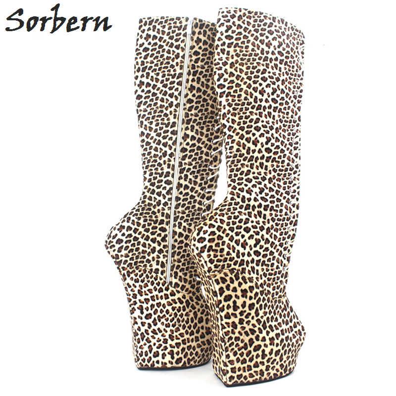 ... Sorbern mujer botas 20 cm de tacón alto + 5 cm plataforma fetiche Sexy  rodilla alta ... 260f6736b0679