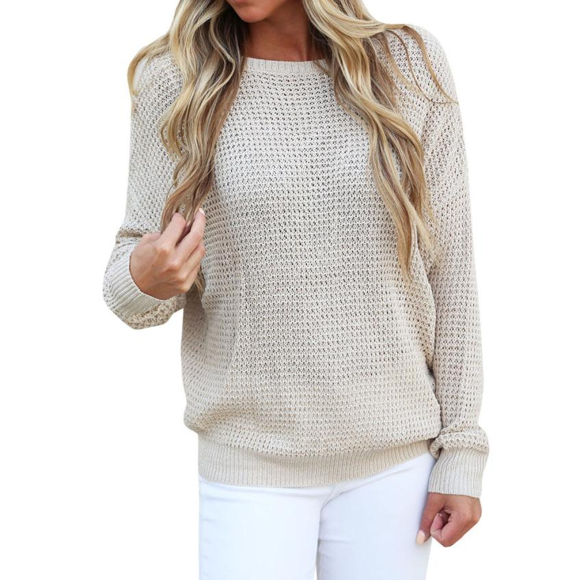 2018 Sexy Frauen Pullover Lange Hülse Backless Winter Jumper Stricken Pullover Lässige Bluse Tops Pullover Frauen Solide Strickjacke Um Das KöRpergewicht Zu Reduzieren Und Das Leben Zu VerläNgern