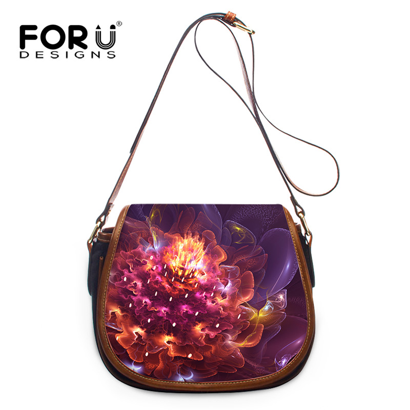 FORUDESIGNS Flower Stylish PU Leather Women Crossbody Bag,Woman Female Mini Messenger Bags,Brand Ladies Girl Small Shoulder Bag, 2017 fashion all match retro split leather women bag top grade small shoulder bags multilayer mini chain women messenger bags