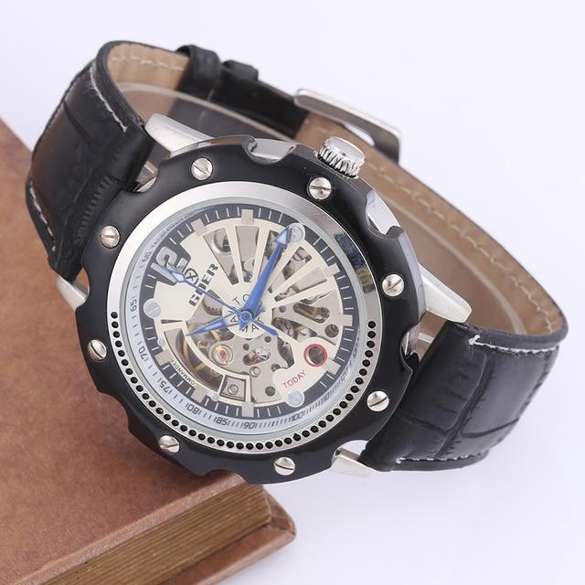 c10dbb9fcf0 Pulseira de Couro Relogio masculino Homens Relógios Relógios Mecânicos  Automáticos Homens Relógios De Luxo Homens Designer