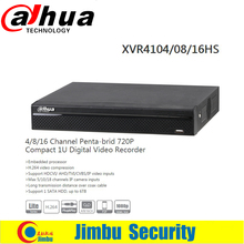 DAHUA XVR4104HS/08HS/16HS Channel 1080P 1U Digital Video Recorder Support HDCVI/ AHD/TVI/CVBS/IP video inputs Support 1 SATA HDD