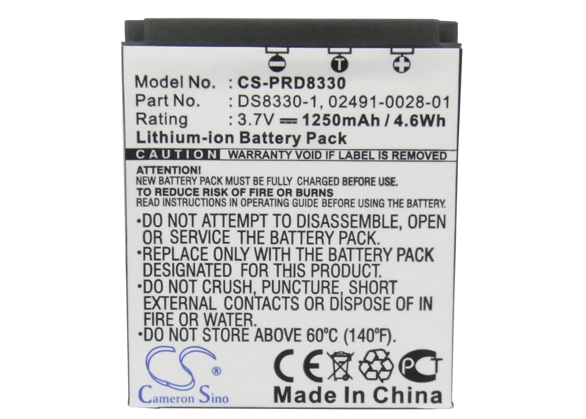 Cameron Sino 1250mAh Batteria DS8330-1 per Acer CP-8531, CR-8530, BATS8 Per Avant S10, S10x6, s8, S8x6, Per HITACHI HDC831E