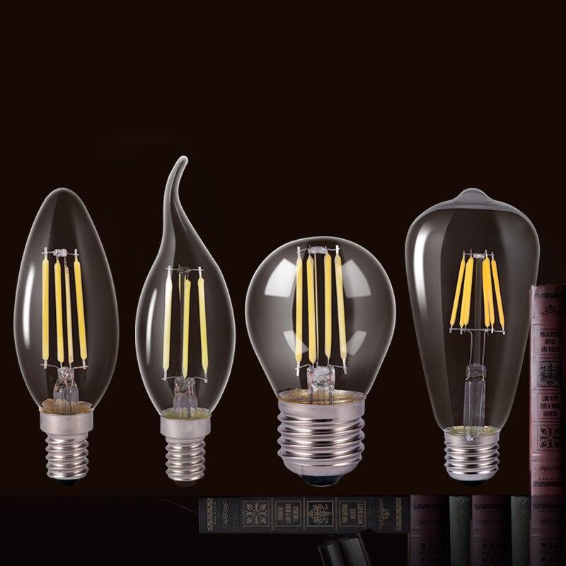 웃 유led Edison Ampoule A Incandescence Ampoule E27 E14 220 V 2 W 4