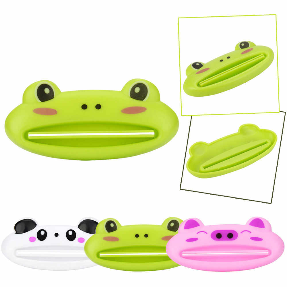 1PCS 9cm x 4 cm Cute Animal Bathroom Home Tube Rolling Holder Toothpaste Squeezer Easy Cartoon Toothpaste Dispenser