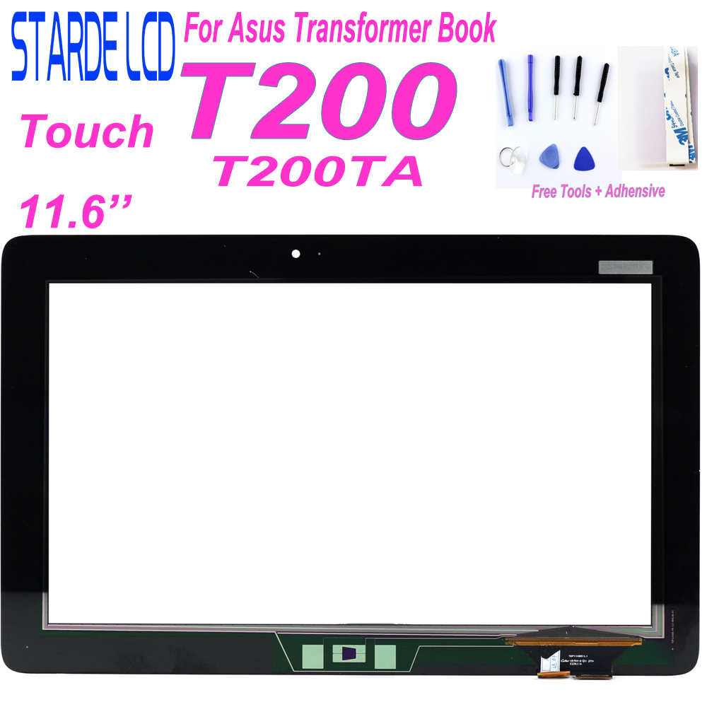 For Asus Transformer Book T200 T200TA Touch Screen Digitizer Black Replacement