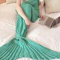 Meerjungfrau Decke, reunir Mermaid Crochet Manta Schwanz, Gestrickte Schwanz Decke Erwachsenen Tipo TEXTILES SUERTE Nueva
