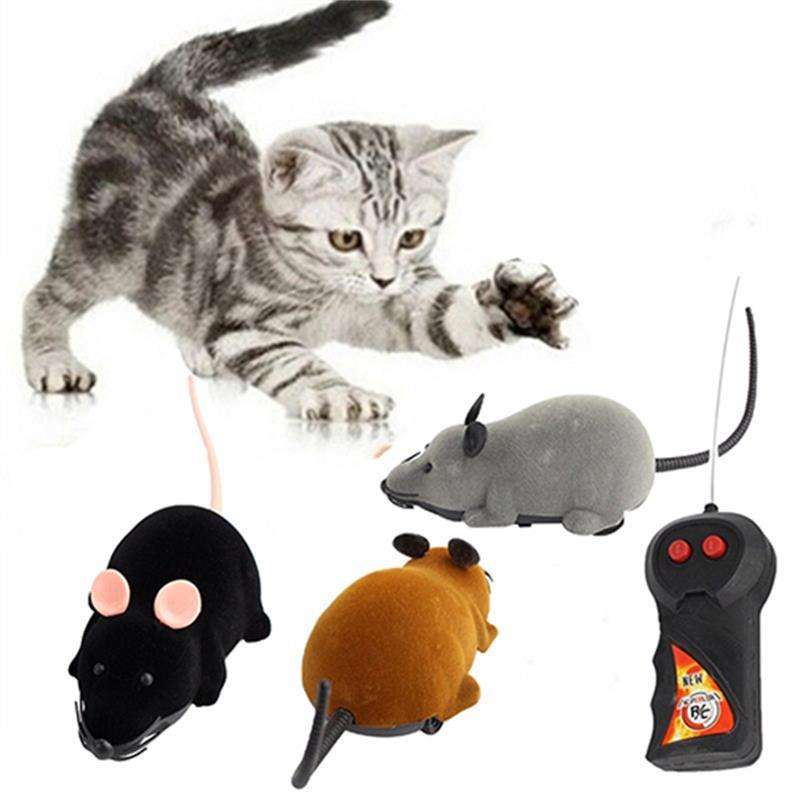 Jouets pour animaux drôle RC télécommande sans fil Rat souris jouet pour chat chien Pet
