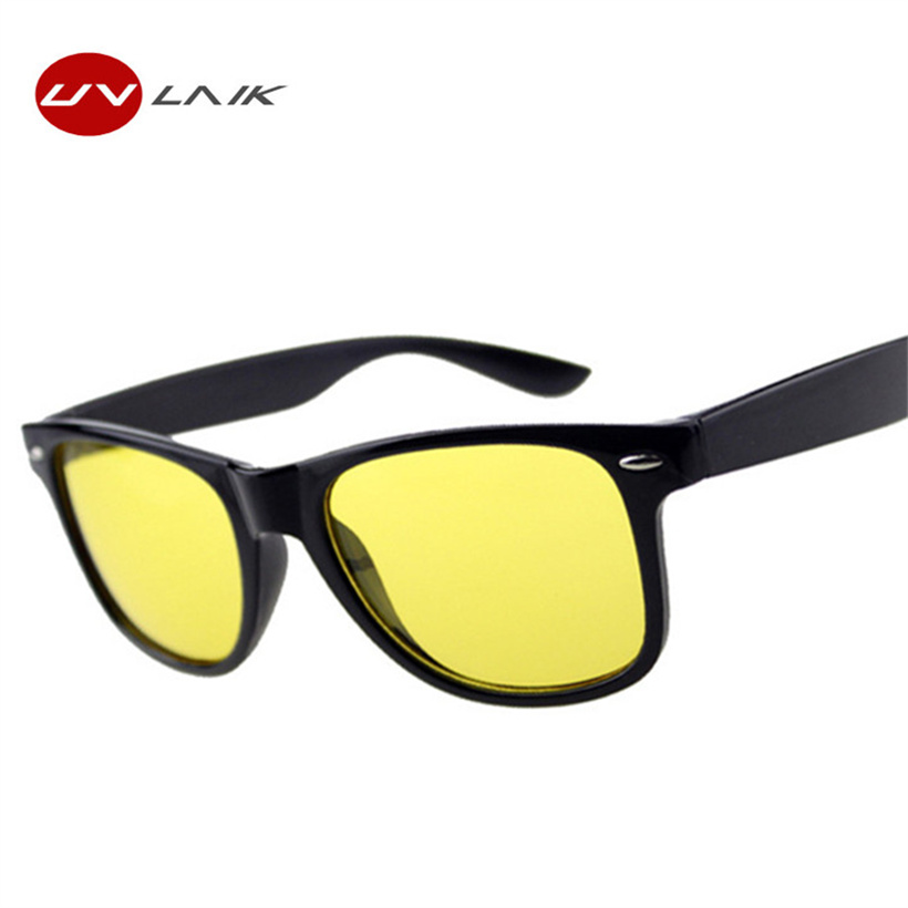 UVLAIK नाइट विजन चश्में धूप का चश्मा महिला पुरुष ब्रांड डिजाइनर महिला पुरुष ड्राइविंग धूप चश्मा पीले लेंस महिला चश्मा
