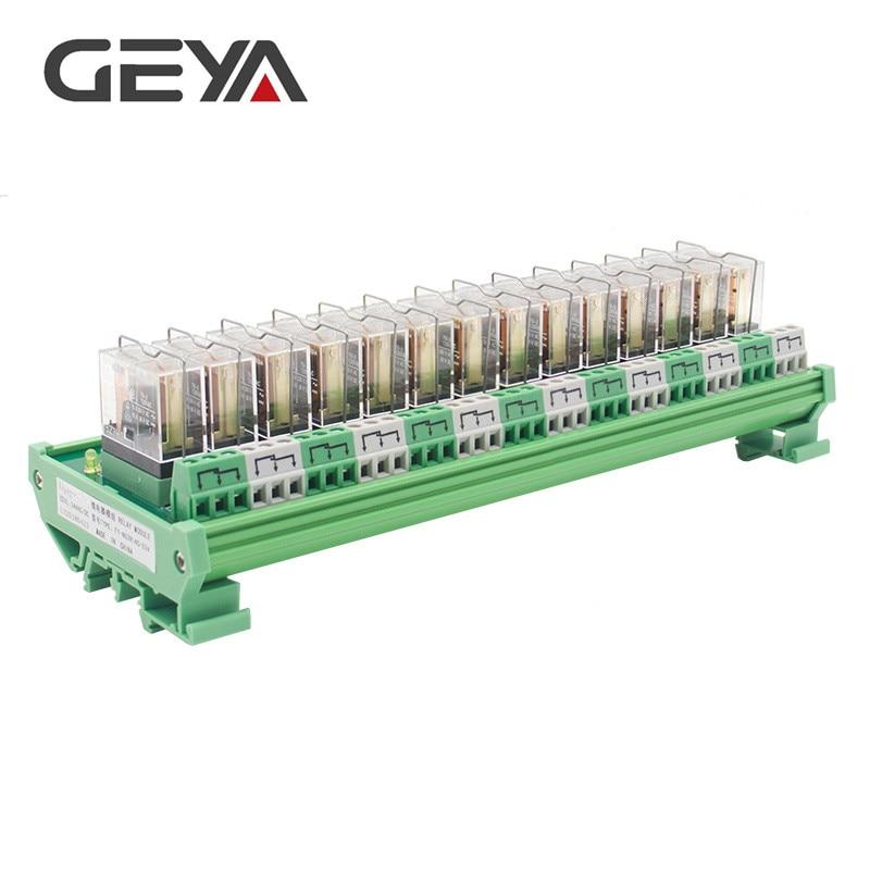 GEYA NG2R Module de relais à 14 canaux monté sur Rail 1 panneau de relais remplaçable SPDT PLC