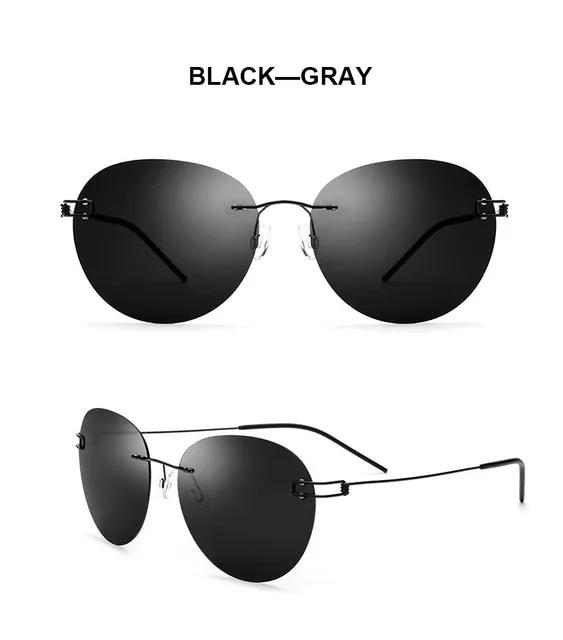 2019 Rimless Titanium Alloy Sun Glasses Round Vintage Retro New Brand Designer Fashion Driving Sunglasses Women Men Top Quality