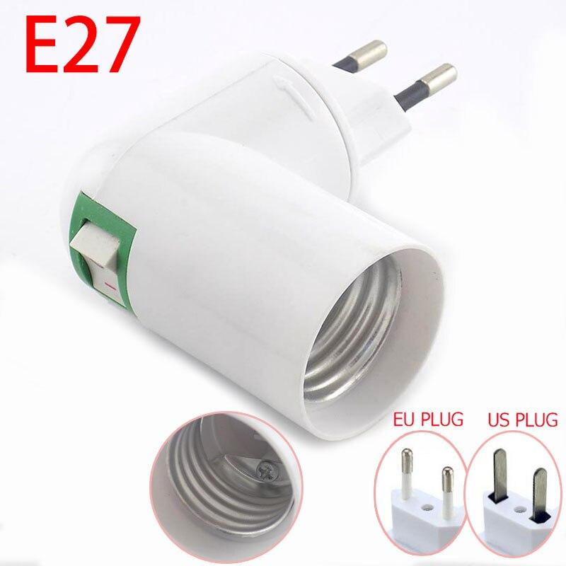 360 Degrees Holder E27 Lamp Bulb Bases Socket Converter Lighting 100-230V Adapter Plug Light Bulb Adaptor EU US Adjustable