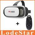 VR VR HeadMount КОРОБКА 2 VR Виртуальная реальность 3D Очки + беспроводная связь bluetooth пульт дистанционного управления геймпад Для ТЕЛЕФОНА картона headmunt