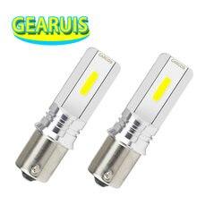 2 pcs S25 1156 p21w COB chips caso de alumínio 1157 BAY15D BA15S 36 3 W 0.24A 6500 K Carro branco bulb Sinal De Volta Luz Revers