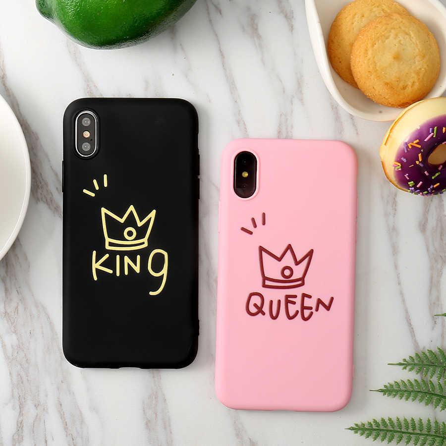 """Linda Coroa Rosa Preto Soft Case de Silicone Para o iphone X XS Max XR 6 6S 5 5S SE 8 7 Plus 11 Pro Max 2019 6.5 """"Capa Fundas Coque"""