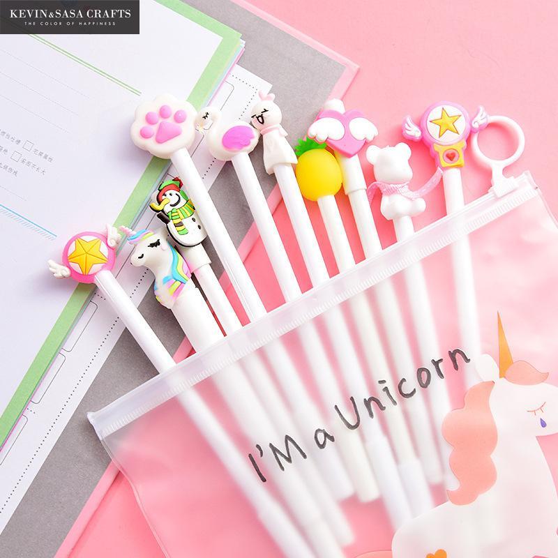 Image 2 - 10Pcs/Set Gel Pen Unicorn Pen Stationery Kawaii School Supplies Gel Ink Pen School Stationery Office Suppliers Pen Kids Gifts-in Gel Pens from Office & School Supplies