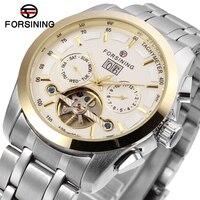 FORSINING Men S Classic Wristwatches Mechanical Leather Strap Calender Watch For Man Masculino Quartz Watch 6