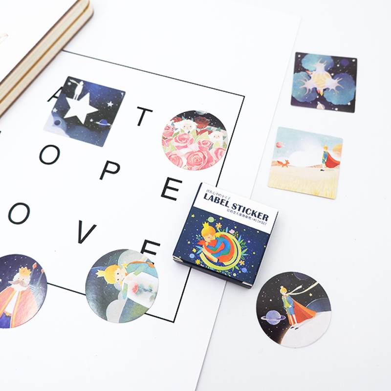40 pcspack Cute little prince paper sticker DIY diary album decoration stickers scrapbooking planner label Scrapbook stickers