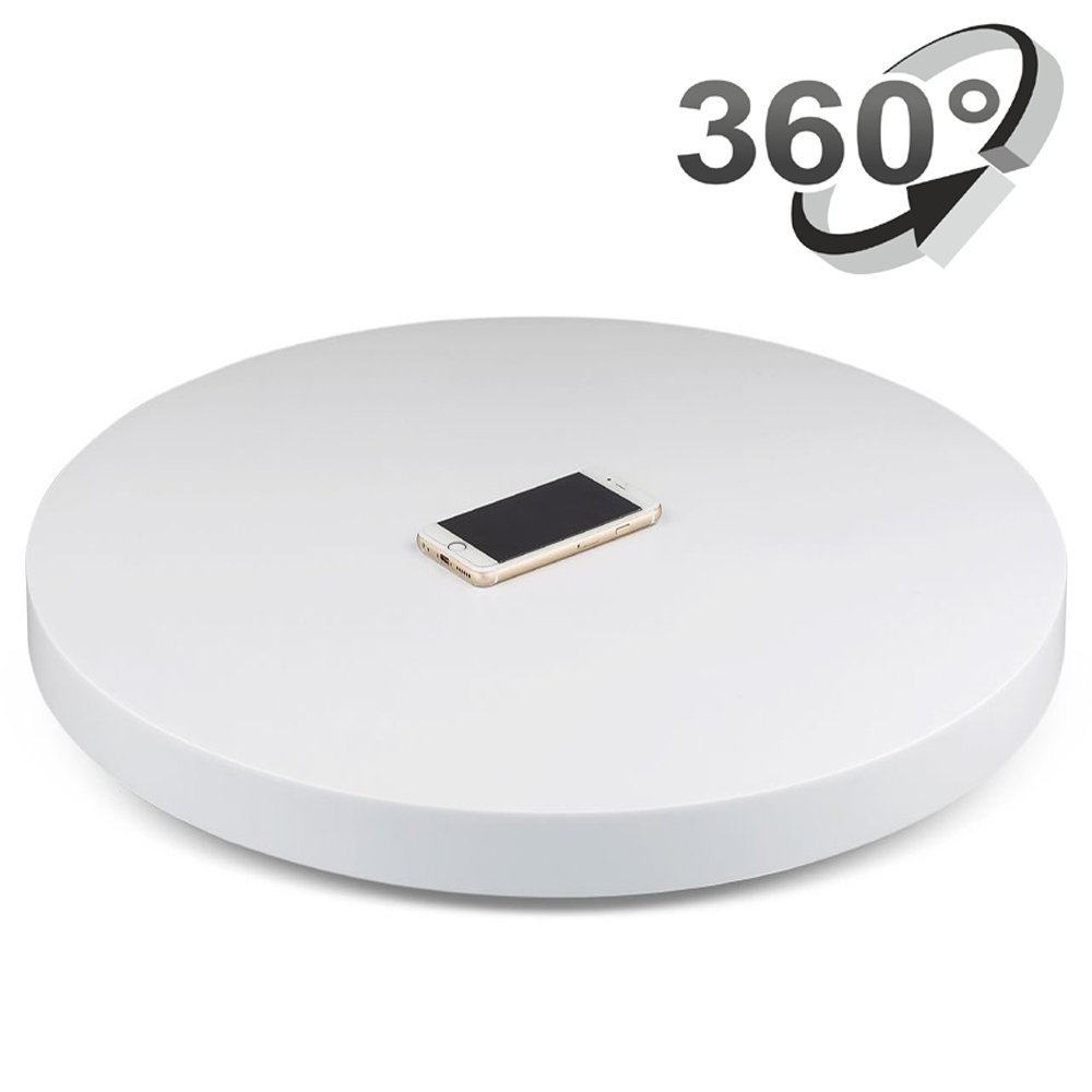Professional 360 Degree Electric Rotating Turntable for Photography,24 Diameter, 175 Lb Capacity. Automatic Revolving Platform merchandise display base 360 degree electric rotating turntable for photography 15cm automatic revolving platform