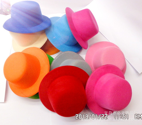 """Free Shipping 5.2""""(13cm) 12 Color Mini Top Fascinator Hats Children Party hats,DIY Hair Hairpins 10pieces/lot"""